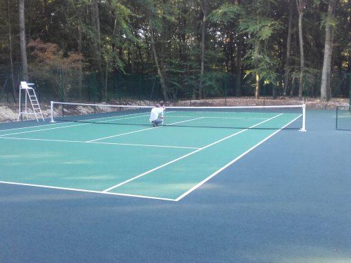 Expert dans la construction de courts de tennis for Longueur d un court de tennis